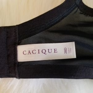 Cacique Intimates & Sleepwear - Cacique black satin full coverage bra 38D